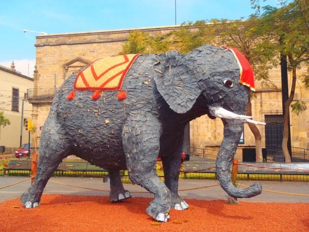 Larger than life elephant.