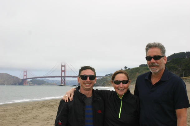 All guests to our apartment are required to walk the 5 blocks to Baker Beach and take the obligatory Golden Gate Bridge picture.
