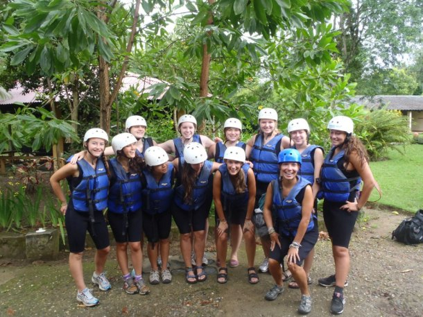 Our group went whitewater rafting down the Río Yaque del Norte, the longest river in DR.