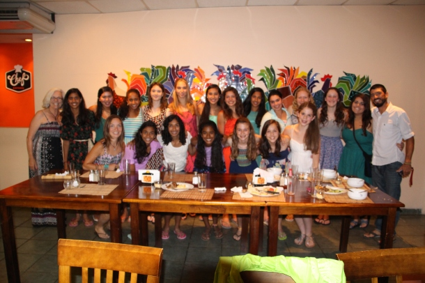 Menlo School Girls' Leadership Club final dinner in San Jose, Costa Rica, 6.25.13