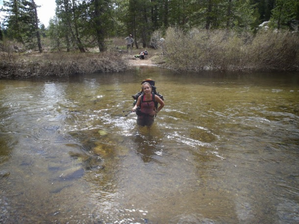 Frequent stream crossings (5 - 7 per day) are standard fare in Emigrant Wilderness early in the season. Bring your Keens!