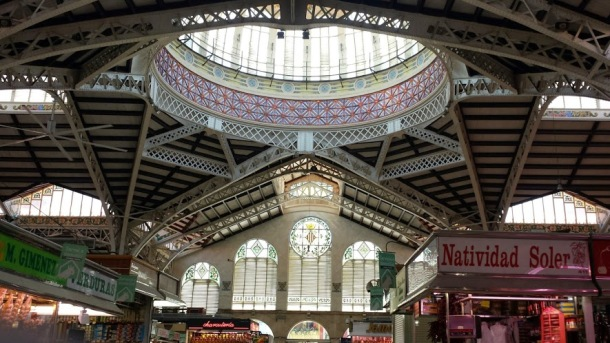 """Mercat Central"" or Mercado Central is another great bustling place to get fresh produce in Valencia."