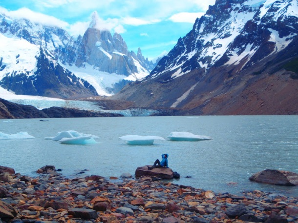 This photo, taken in front of Cerro Torre, is one of my favorites from my entire lifetime of travels.