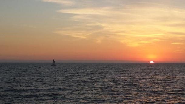 Sunset from Santa Monica pier
